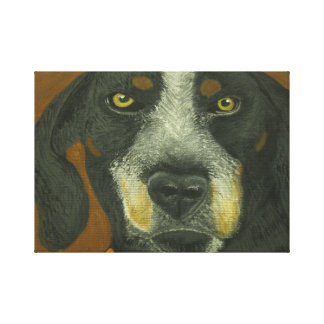 Black and Brown Dog Canvas Print