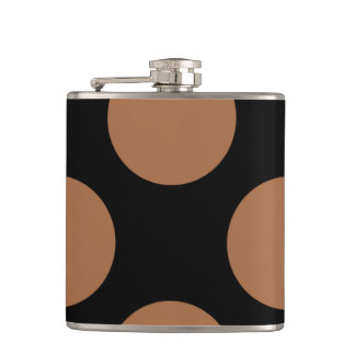 Black and brown dots design flask