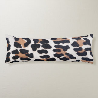 BLACK AND BROWN LEOPARD BODY PILLOW