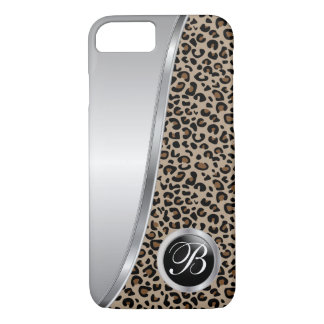 Black and Brown Leopard Print | Monogram iPhone 8/7 Case