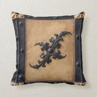 Black and brown tan Steampunk Throw pillow