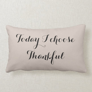 Black and Buff Thankful Lumbar Pillow