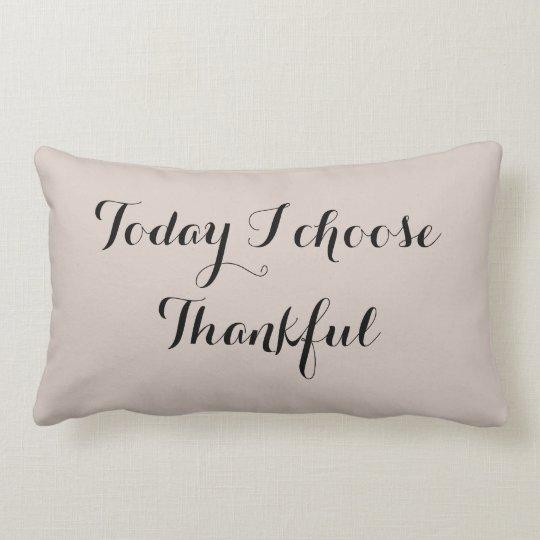 Black and Buff Thankful Lumbar Pillow