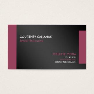Black and burgundy elegant business card design