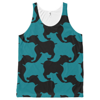 Black and Choose colour Houndstooth Dogs Tank Top