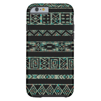Black And Colorful Tribal Geometric Pattern 2 Tough iPhone 6 Case