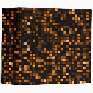 Black And Copper 'Meteor Shower' Squares Pattern Vinyl Binder