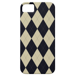 Black and Cream Argyle Universal iPhone 5 Case