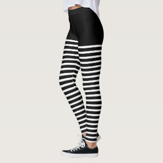 Black and Custom Color Stripes Costume clown/Bee Leggings