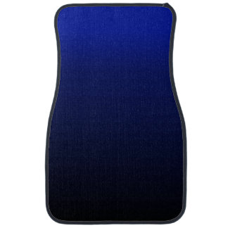 Black and Electric Blue Front Floor Car Mats