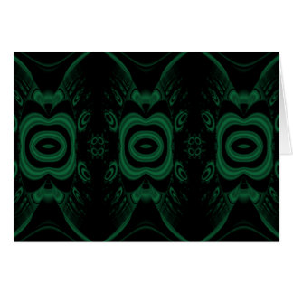 Black and Emerald Green Flower Design. Note Card
