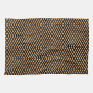 Black and Gold Abstract Kitchen Towel