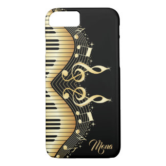 Black And Gold Abstract Piano Design Case-Mate iPhone Case