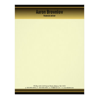 Black and Gold Bars Accountant Business Letterhead