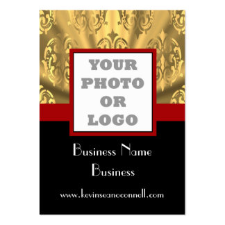 Black and gold bling  photo logo pack of chubby business cards
