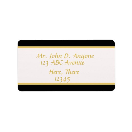 Black and Gold Border