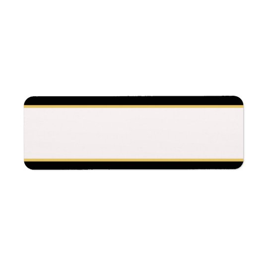 Black and Gold Border Return Address Label