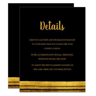 Black and Gold Brush Stroke Details Card