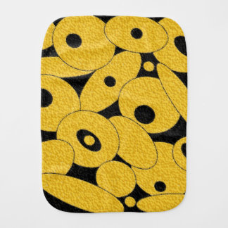 Black and Gold Bubble Orbs burp cloth