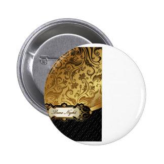 Black and Gold Bunco Accessories Pinback Button