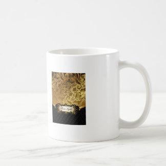Black and Gold Bunco Accessories Classic White Coffee Mug