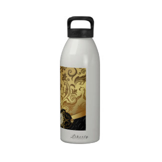 Black and Gold Bunco Accessories Drinking Bottle