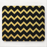Black and Gold Chevron Mouse Pad
