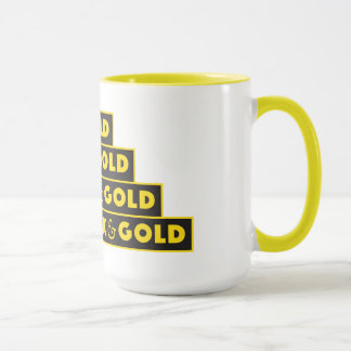 BLACK AND GOLD COFFEE CUP