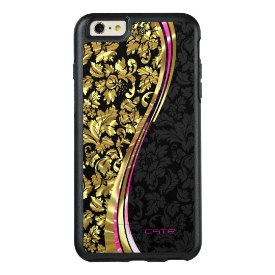 Black And Gold Damask OtterBox iPhone 6/6s Plus Case