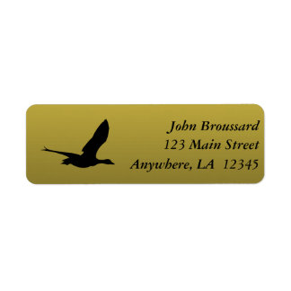 Black and Gold Duck Hunting Address Label