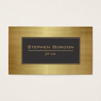 Black and gold elegant business card