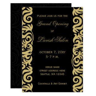 Black and Gold Elegant Corporate party Invitation