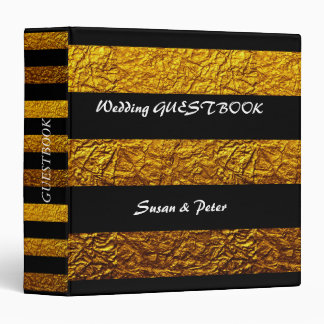Black And Gold Embossed  Personalized Binder