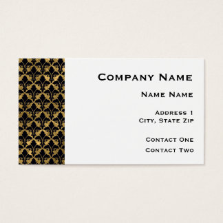 Black and Gold Fleur De Lis Border Business Card