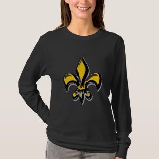Black and Gold fleur de lis T-Shirt