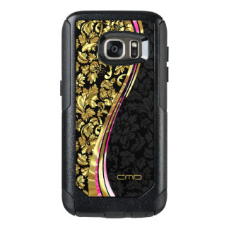 Black And Gold Floral Damasks OtterBox Samsung Galaxy S7 Case