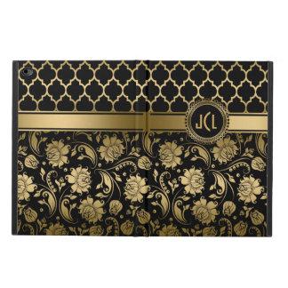 Black And Gold Floral Damasks & Quatrefoil Powis iPad Air 2 Case