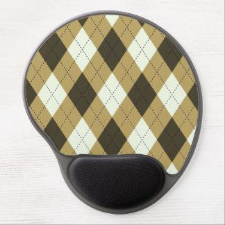 Black And Gold Geometric Stripes Argyle Pattern Gel Mouse Pad