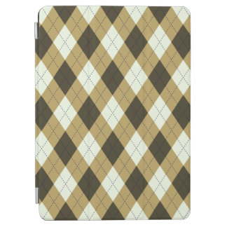 Black And Gold Geometric Stripes Argyle Pattern iPad Air Cover