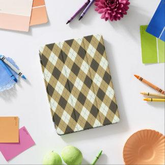 Black And Gold Geometric Stripes Argyle Pattern iPad Pro Cover