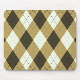 Black And Gold Geometric Stripes Argyle Pattern Mouse Pad