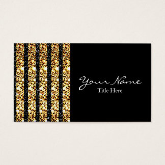 Black and Gold Glitter Business Card