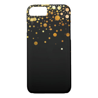 Black and Gold Glitter foil iPhone 7 case