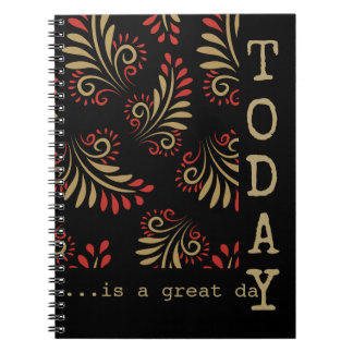 Black And Gold Inspirational Words Typography Notebooks