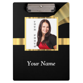 Black and gold instagram template clipboard