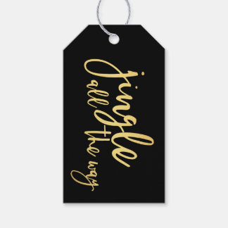 Black and Gold Jingle All The Way Gift Tags