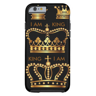 Black and Gold King Crowns IPhone 6 case