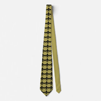 Black and Gold Louisiana Fleur-De-Lis Tie