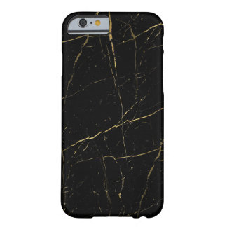 Black and Gold Marble Barely There iPhone 6 Case