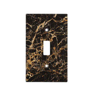 Black and Gold Marble Light Switch